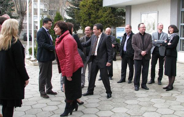 кметът на Несебър Николай Нимитров посреща делегация от Норвегия